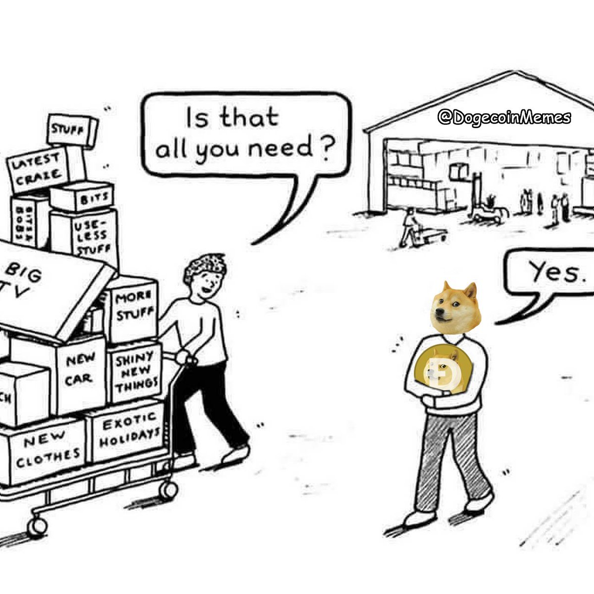 #Dogecoin #memes #crypto #cryptocurrency #doge #tothemoon #wow #moonsoon #dogecoinmoon #thegoodstuff #muchfunny #suchmemes #happydoge #moon #needs #happiness