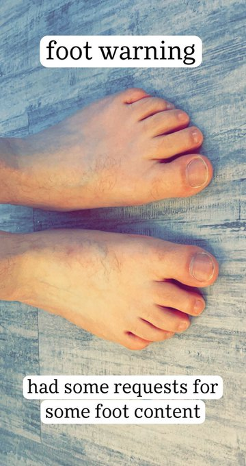 1 pic. Had some requests to show off my feet, so here you go, boys. RT if you'd rub them and suck on