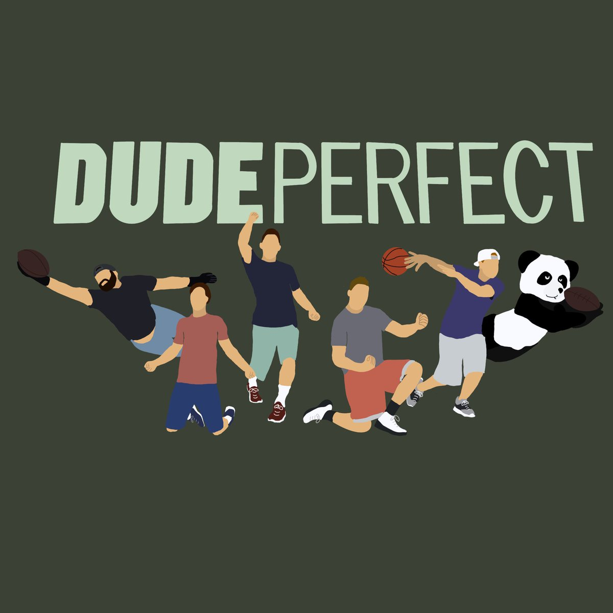 My daughter has been hard at work with the iPad she got for Christmas. Watcha think @DudePerfect?
