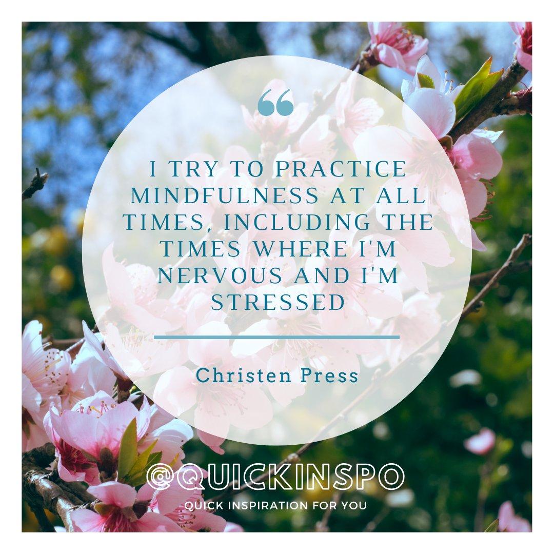 How do you practice mindfulness? #mindfulness #stressrelief #quoteoftheday @ChristenPress
