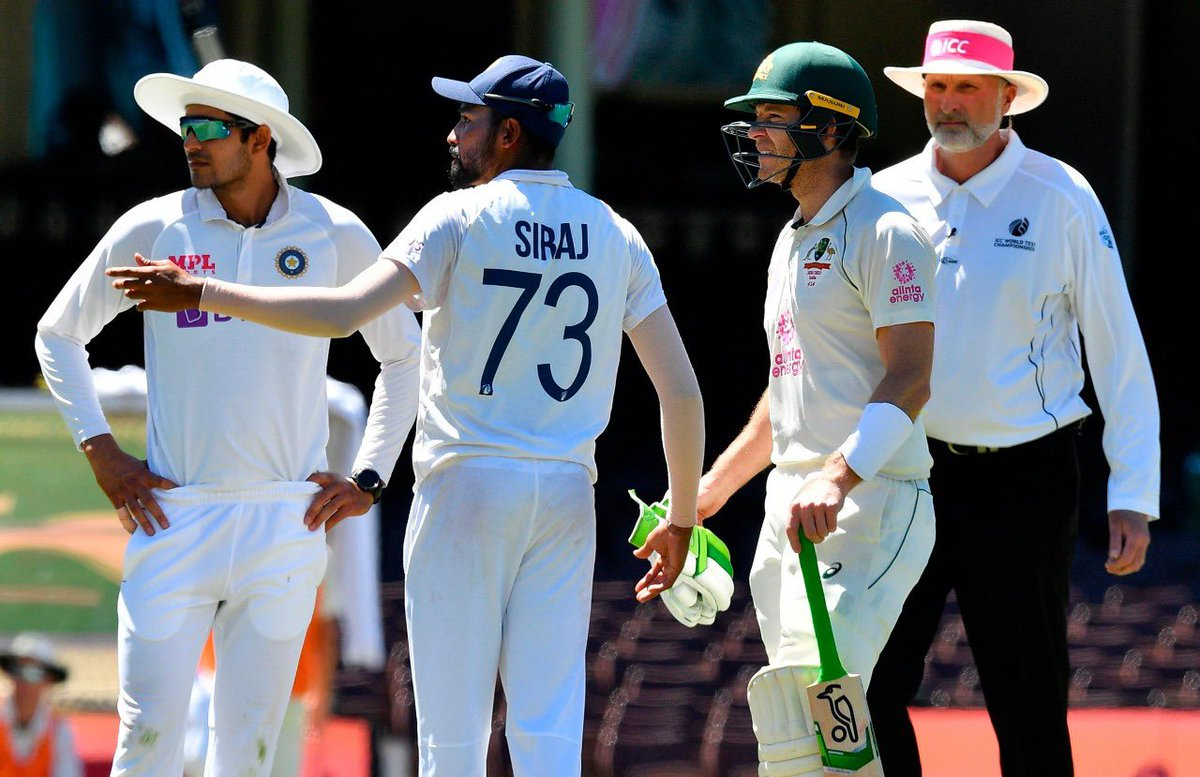 Disappointing to see that my teammates were subjected to racial abuse repeatedly in Sydney. There is no place for racism in today's world and it is not acceptable. I hope that strict action is taken against those who misbehaved. #TeamIndia