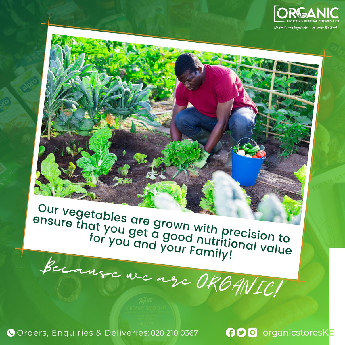 Our vegetables are grown with precision to ensure that you get a good nutritional value for you and your family!   Because we are ORGANIC!   EAT HEALTHY Today 020 210 0367 #OrganicStoresKE #HappyNewYear2021 #OrganicFrutasnVegetal #OrganicsNextGenMall #organicfood #organicfruits