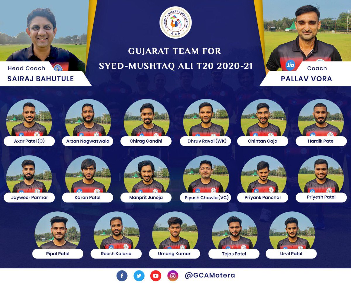 Wishing our Gujarat boys all the luck for the season...@GCAMotera