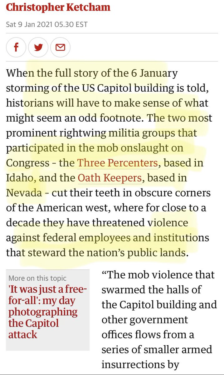 """Oathkeepers"" were in #Insurrection2021 on 1/6/21 as they were in #BundyStandoff in 2014. Trump pardoned Hammonds, whose imprisonment for arson on #PublicLands sparked the Malheur National Wildlife Refuge insurrection. Fomenting insurrection w #impunity"