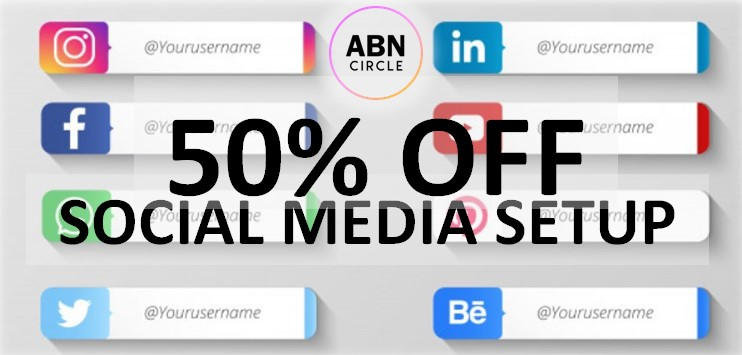 Today's the day! 50% OFF #socialmedia Setup! Contact us #today to learn #MORE. #FridayMotivation #SpecialDeal #socialmediamarketing #SocialMediaManagement #socialmedias #SocialMediaCatchUp #MakeAWish #WeCanDoIt