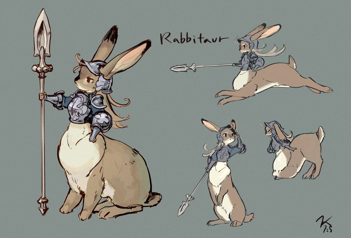 Rabbitaur  (前に描いたののポーズ追加)