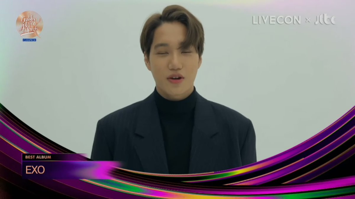 """Replying to @SMTownEngSub: .@weareoneEXO wins """"Best Album (Bonsang)"""" at the 2020 Golden Disc Awards"""