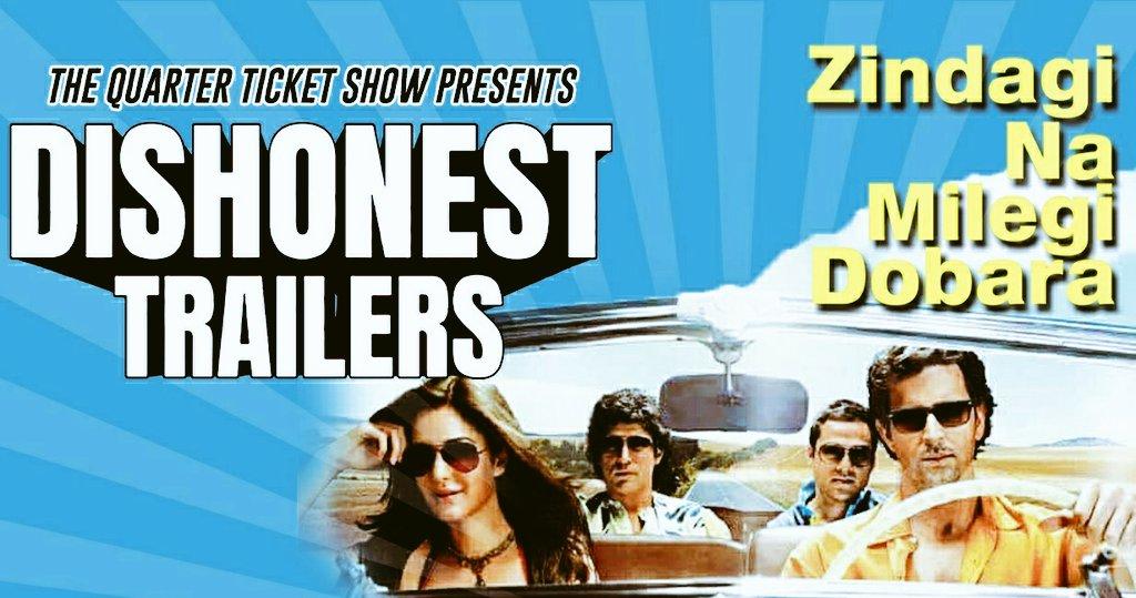 @VKumar03934431 @MadhuriDixit @iHrithik What if zindagi na milegi dobara was a heist movie  Zindagi na milegi dobara- a dishonest trailer, check it out here