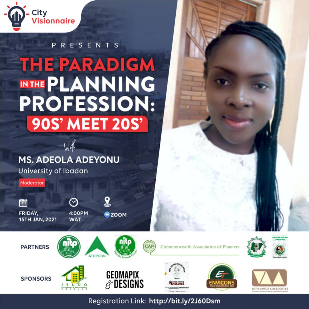 MeetOurModerator #5DaysToGo  Adeola Adeyonu is an alumnus of Ladoke Akintola University of Technology and the University of Ibadan both in Oyo State where she bagged her bachelor and masters degree in Urban and Regional Planning respectively. Currently, she's a doctoral....