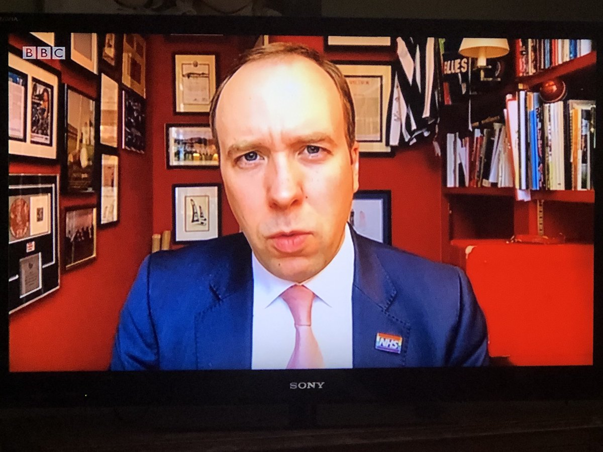 This is a question bigger than Brexit.. is Matt Hancock so short of space that all his interviews have to be conducted in his downstairs privy.. or more worryingly is it the only room in the house with a camera installed on the door😂