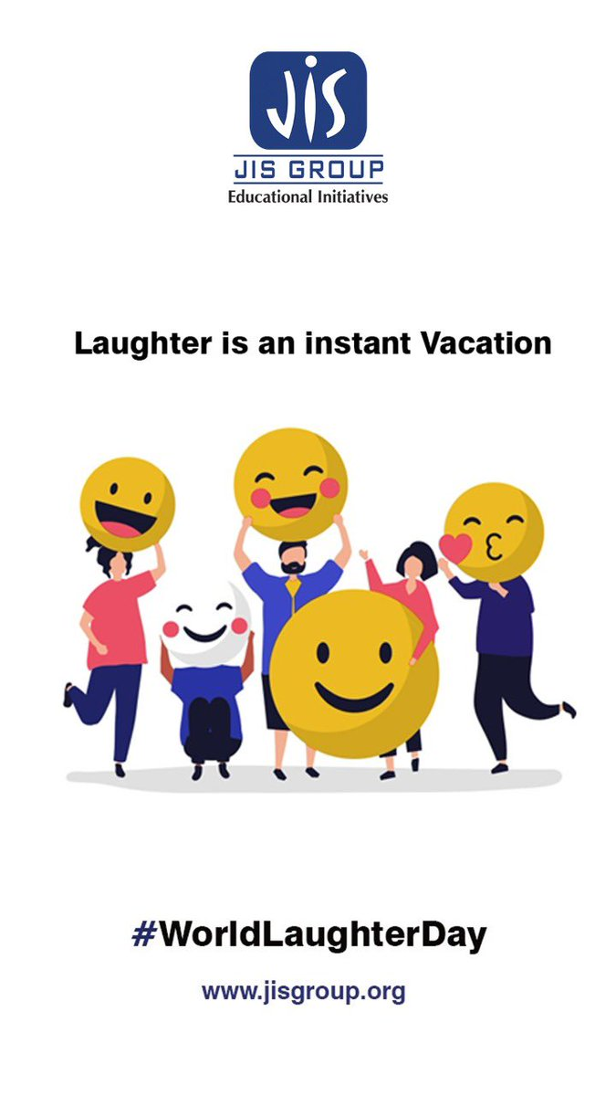A good laugh is a mighty good thing, a rather too scarce a good thing. Here's wishing everyone a very Happy World Laughter Day on our behalf.  #WorldLaughterDay #Happy #HappyMe #Laughing #Laughter #HappyTime #LaughterIsTheBestMedicine #SundayVibes #SundayThoughts #JISGroup
