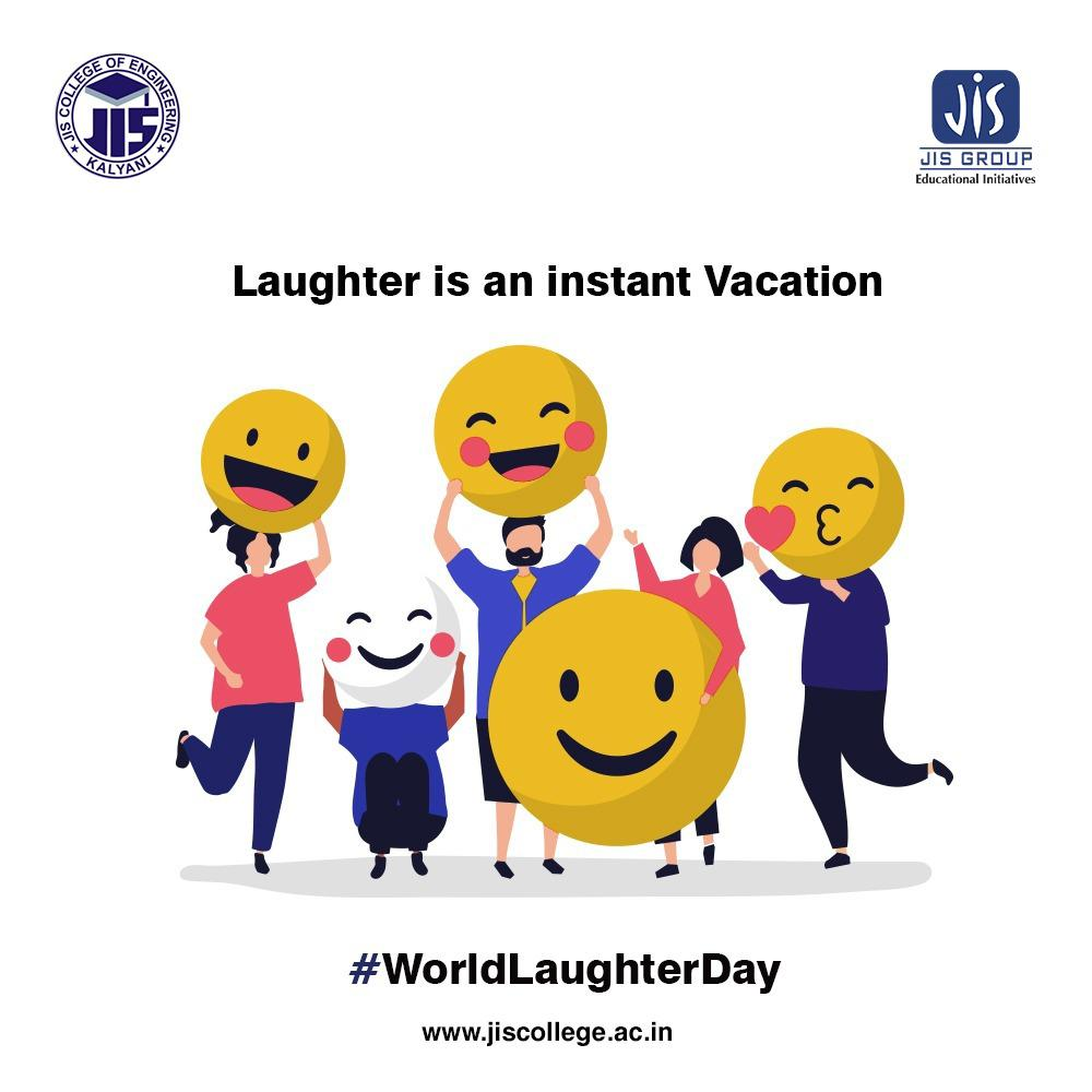 A good laugh is a mighty good thing, a rather too scarce a good thing. Here's wishing everyone a very Happy World Laughter Day on our behalf.  #WorldLaughterDay #Happy #HappyMe #Laughing #Laughter #HappyTime #LaughterIsTheBestMedicine #SundayVibes #SundayThoughts #JISCE
