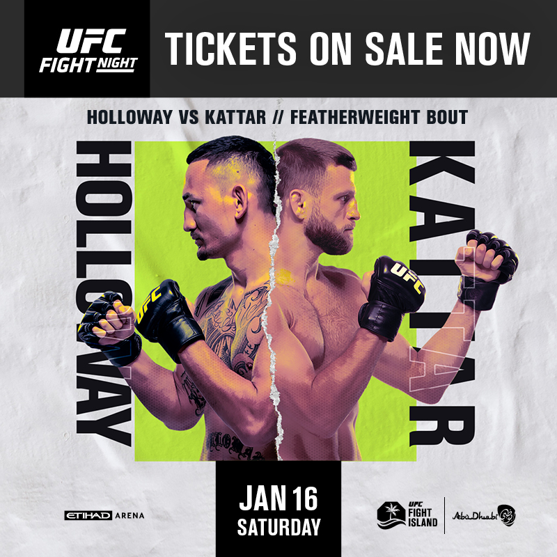 What a line-up!  #UFCFightIsland Triple Header Week at @etihadarena_ae is set to host some of the biggest names in @ufc!  Be part of the action #InAbuDhabi, limited tickets available now via https://t.co/6fU6E1a35Y & https://t.co/AtIz6EHtwu  @ufc @VisitAbuDhabi @ADShowdownWeek https://t.co/sx44MNvmFM