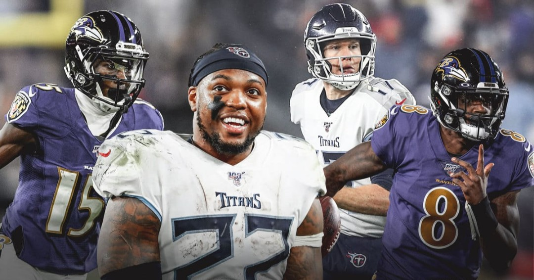 The Baltimore Ravens & Tennessee Titans meet in an AFC wild card round matchup from Nissan Stadium at 1:05PM(et). The Ravens come into this one as the #5 seed, finishing with an 11-5 record.Tennessee come into this as #4 seed and AFC South division champion with an 11-5 record!