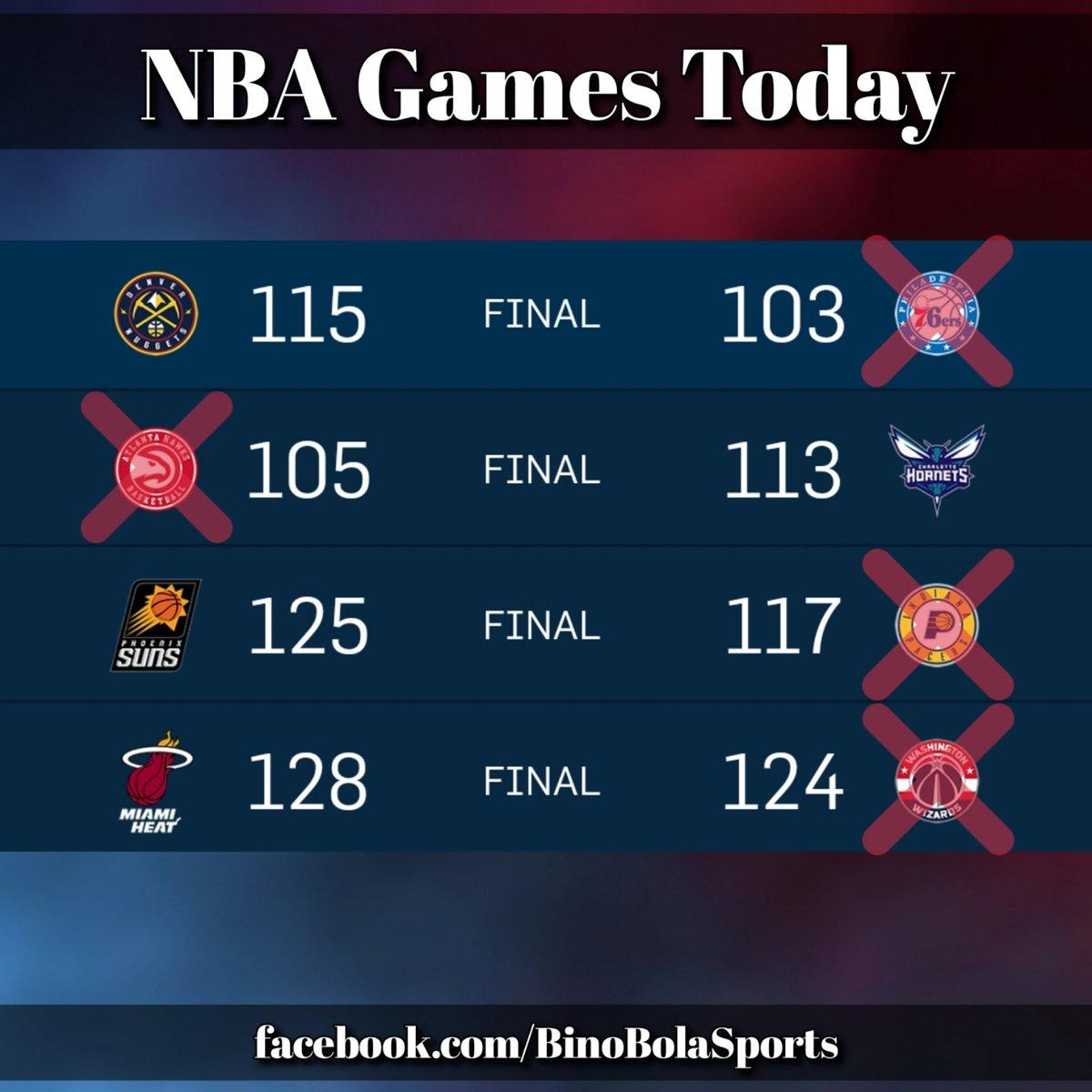 NBA games today! #RegularSeason #Day18 #BinoBolaSports #Scores