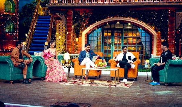 Tonight episode superb maind Bloing ❤️❤️❤️❤️❤️❤️😍😍😍😍❣️❣️❣️ team of #TheBigBull    @ajaydevgn @juniorbachchan  @nikifyinglife @s0humshah  #TheKapilSharmaShow @KapilSharmaK9 @kikusharda @haanjichandan @Krushna_KAS @almostbharat