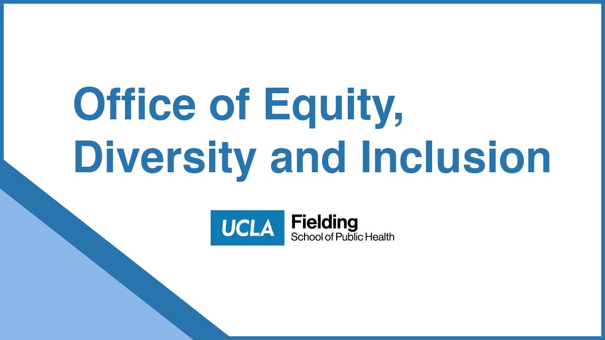 #UCLAFSPH Students, Faculty & Staff | Join the Fielding School's Office of #EDI for an upcoming training session or event! Visit  for latest.   Virtual office hours are also available with EDI Program Manager Janae Hubbard