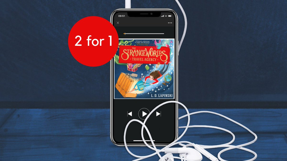 There have always been places in our world where magic gathers... ✨  The Strangeworlds Travel Agency by @ldlapinskiis on sale 2 for 1 for @audibleukmembers!  A must-listen for children aged 9+, download now at: