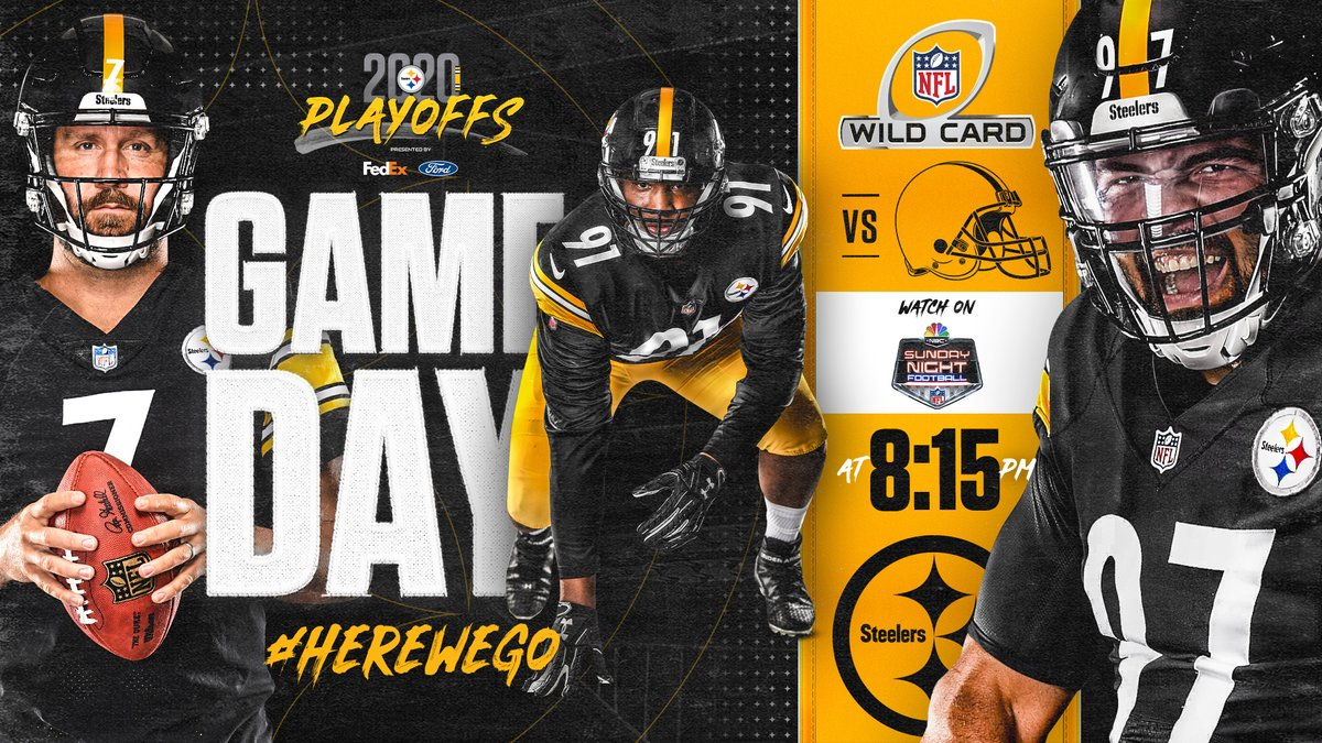 Replying to @steelers: IT'S GAME DAY‼️  RT if you're ready for #CLEvsPIT 😤  @FedEx | @DOCnation_7 | #HereWeGo
