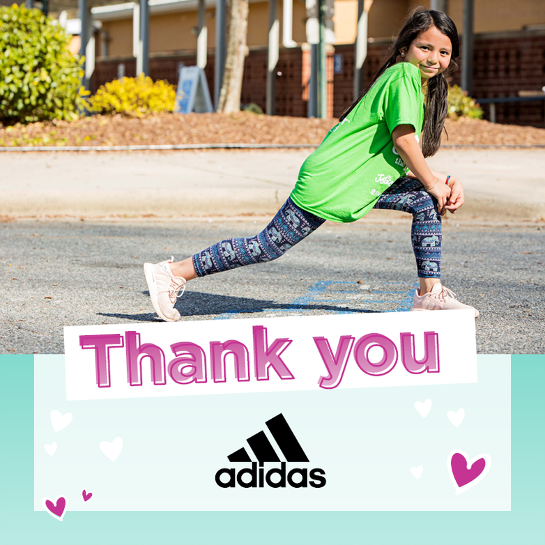 Thank you, @adidas for helping us create Pandemic Magic! By matching the funds raised by our Board of Directors in November and December, Adidas helped us raise more than $28,000 to support our mission!  #shebreaksbarriers  #readyforsport  #adidas  #GOTR  #youdidit  #thankful