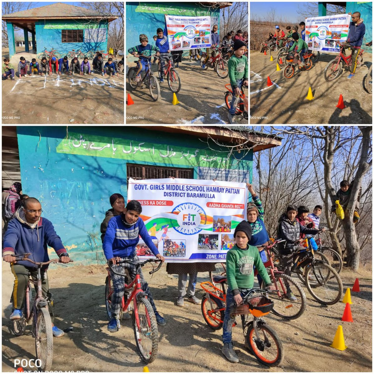 Wonderful to see children from Government School, Baramulla, J&K also participating in India's biggest Cycling event! 🚴  Register now for the event ➡️   #newindiafitindia   @KirenRijiju @IndiaSports @Nyksindia @_NSSIndia @PIB_India @OfficeOfLGJandK @DGSAI