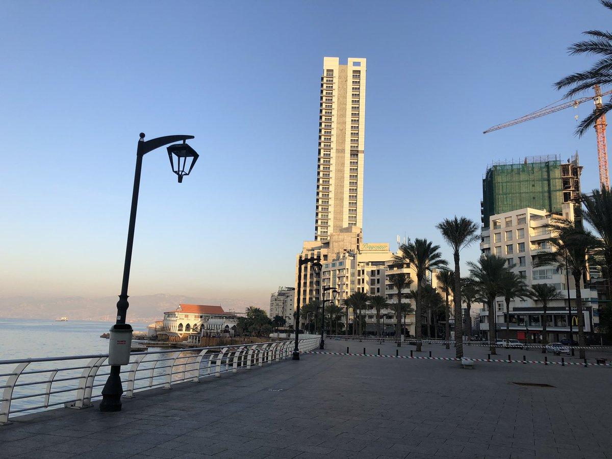 كورنيش مدينتي الان ❤️ #بيروت #المنارة #كورونا