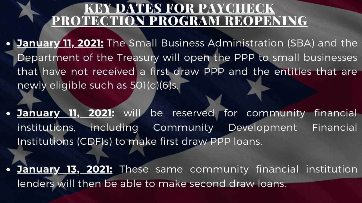 Check out the key dates below surrounding the reopening of the Paycheck Protection Program.