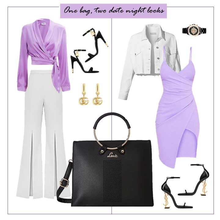 We're all about bags that serve easy to style silhouettes from glam dinner date looks to casual looks. Team Lilac, let us know the look you would go for! 💜 x Click this link to shop the featured handbag at 60% discount  x #stylealert #wardrobeinspo