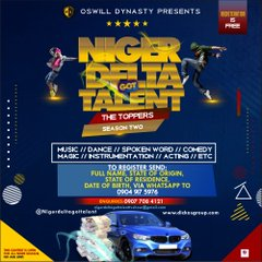 Niger Delta Got Talent Season Two Registration Commence Officially