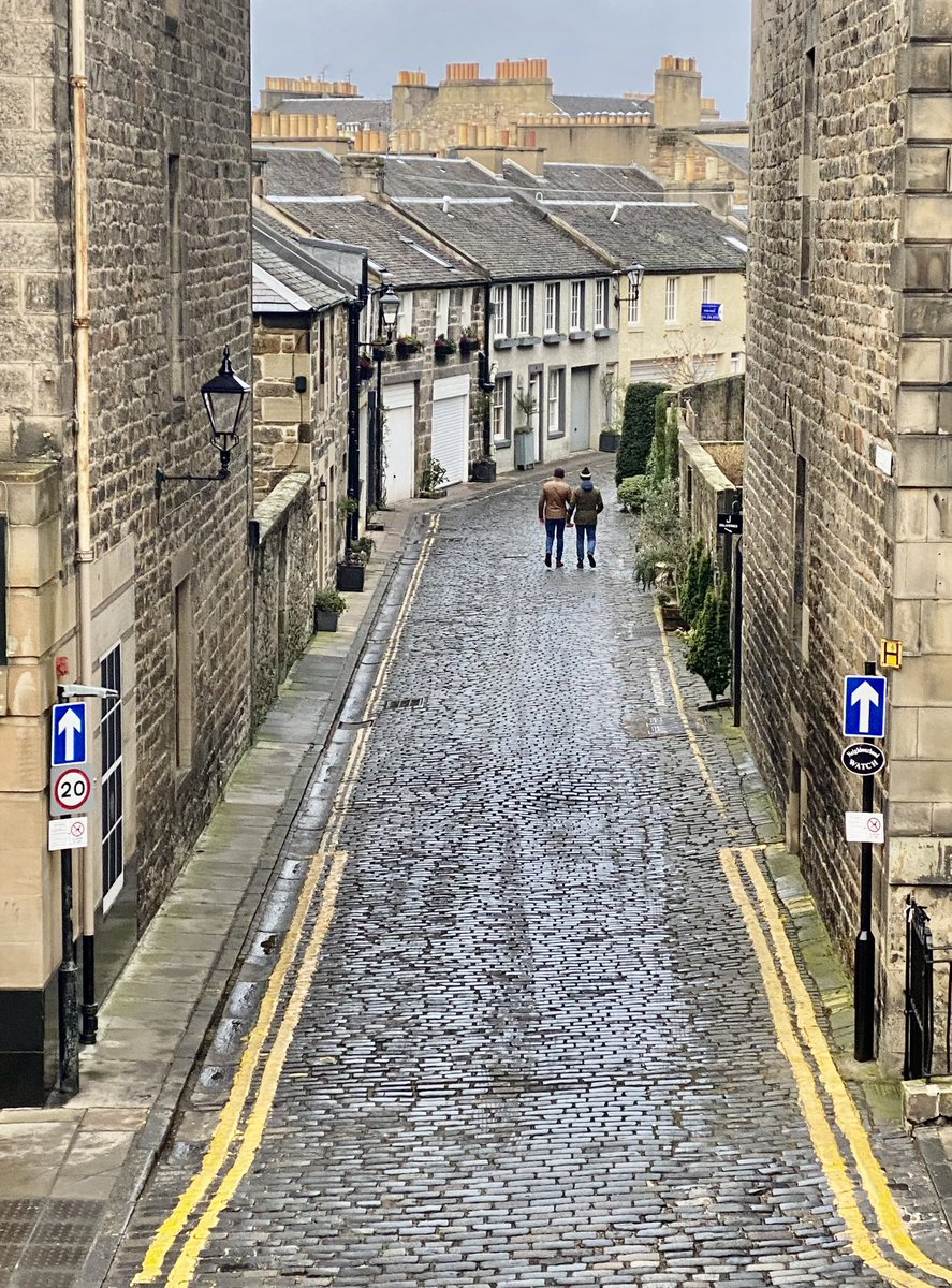 A different angle on a very well known Edinburgh street this afternoon. Who knows which one?