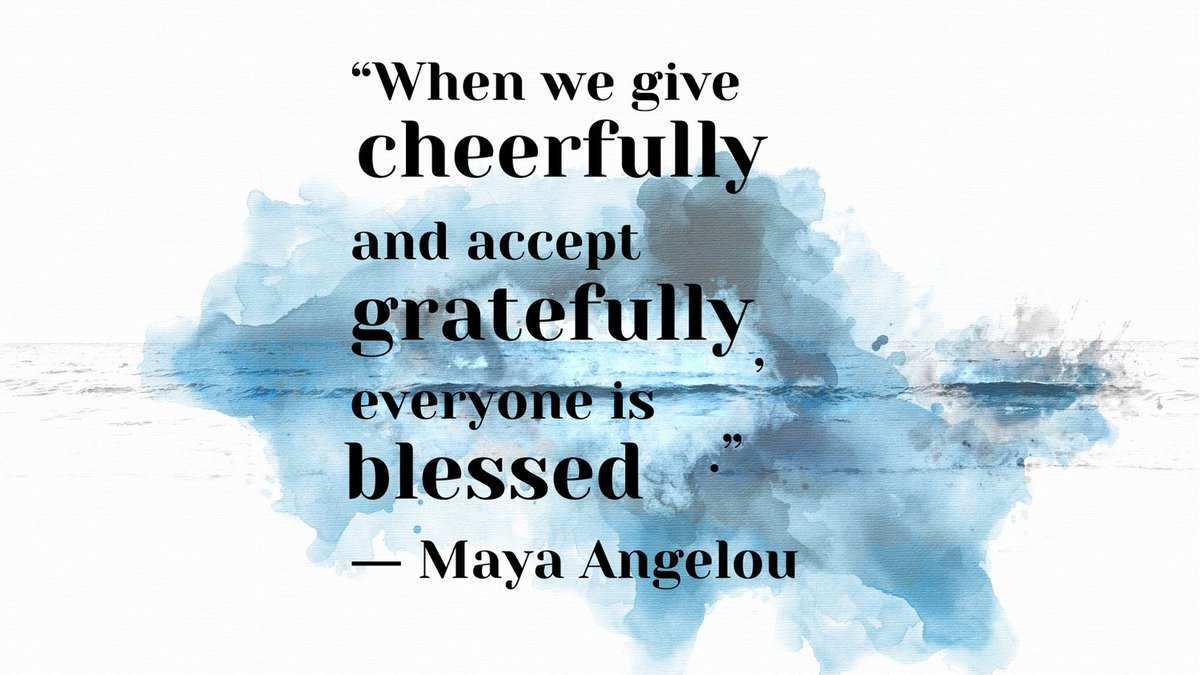 "☀️Quote of the day: ""When we give cheerfully and accept gratefully, everyone is blessed.""  ― Maya Angelou  Happy Sunday! Enjoy the beautiful day!  #Sundayvibes #Sundaythoughts #sundaymood☀️ #sanday #beatifulday #thusday #dayoff #sunny #funday #weekend #fab #FabulousLives"
