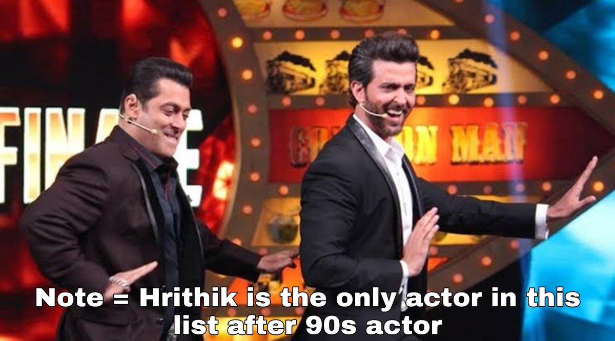 Biggest Birthday Trend of Top Bollywood Celeb  1)#HappyBirthdaySalmanKhan -1.6m 2020👑 2)#HappyBirthdayAkshayKumar - 1.2M 2020 3)#HappyBirthdaySRK - 950K 2020 4)#HappyBirthdayHrithikRoshan - 205k 2021 5)#HappyBirthdayAamirKhan - 202k 2020 6)#HappyBirthdayAjayDevgn - 164K 2020