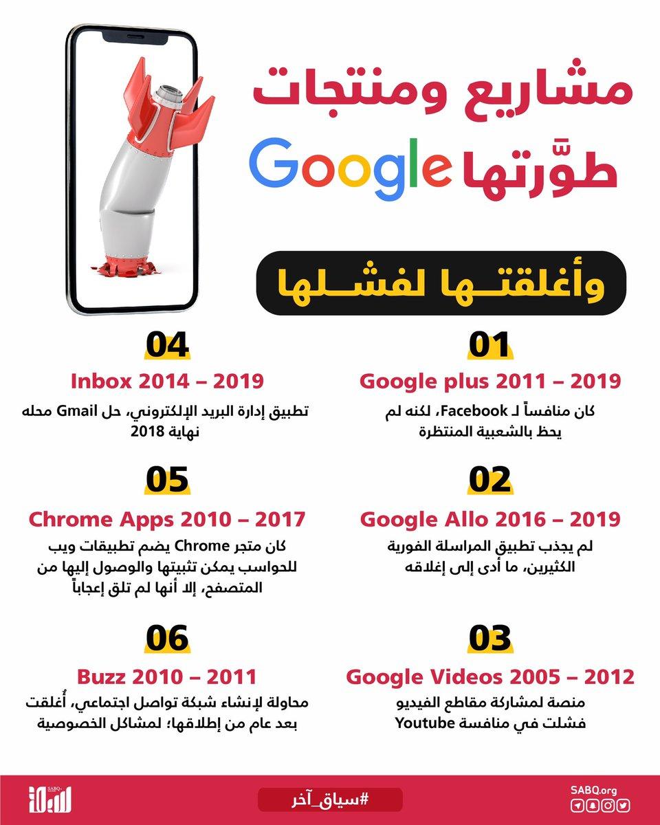 الإنجازات وليدة التجارب والإخفاقات، وهذا ما حدث مع عملاقة التقنية الأمريكية Google التي طوَّرت عدة مشاريع ومنتجاتلكنها فشلت فشلاً ذريعاً واضطرت لإغلاقها.  #سياق_آخر