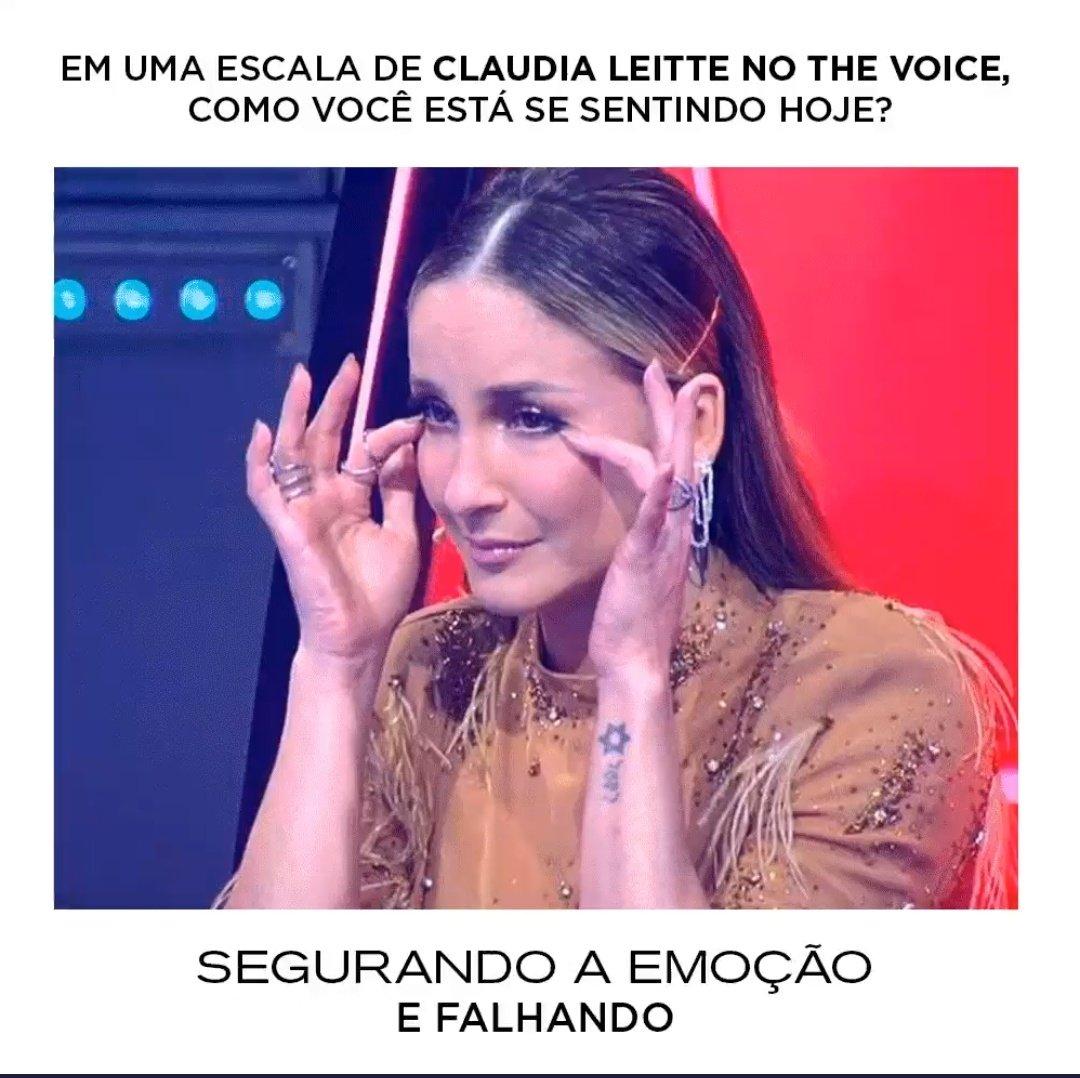 @ClaudiaLeitte @TheVoiceBrasil Tô assim