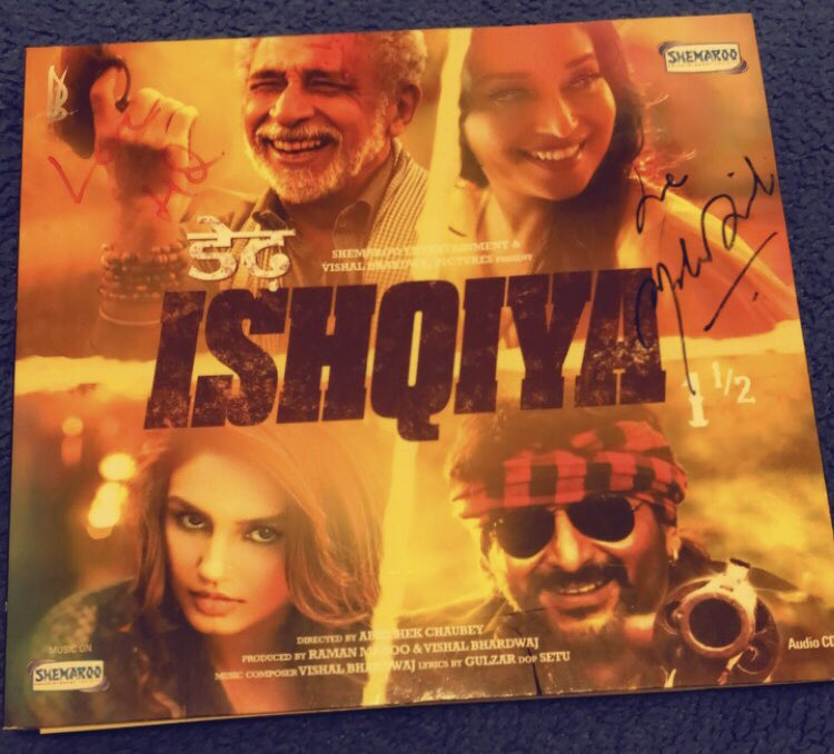 Today is Dedh Ishqiya day so I thought to watch the film again. And I found this soundtrack in my DVD box 👌🏽🤩🌟🥰🧿❤️ I was so surprised ... I thought I lost it.🧿🙈⭐️ #7yearsofdedhishqiya #MadhuriDixit #DedhIshqiya #NaseeruddinShah #HumaQureshi #ArshadWarsi
