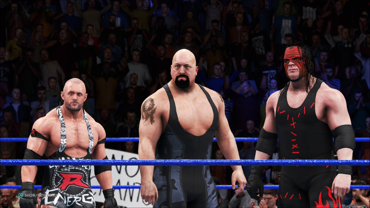 #Kane, #Ryback & #BigShow win the #PatPatterson tribute match. As Kane scored the winning pin, he'll be added to the #ICTitle match at TLC. Ryback and Big Show have an opportunity to qualify next week!  #WWE #2K20 #WWE2K20 #RAW #WWERAW #NXT #WWENXT #SmackDown #Wrestle #Wrestling