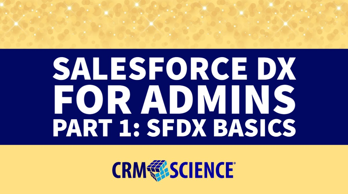 ⭐In this first installment of Salesforce DX for admins, CRM Science Technical Lead @Scott_VS explores #SFDX basics for every #AwesomeAdmin.  Click to read the full article ➡️   #LowCode #SFDC #SalesforceDX #DreamTX #InsurTech #NPTech #FinTech #Trailhead