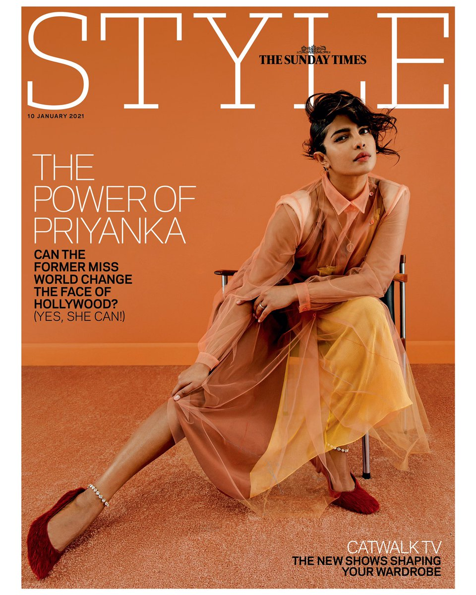 I had the pleasure of Photographing this Sunday's @TheSTStyle Cover with the amazing @priyankachopra ✨  Fashion: Molly Haylor Hair: Issac Poleon MakeUp: Nini Nummela Nails: @nailsbyMH  Set Design: Ibby Njoya Production: Leila Hartley