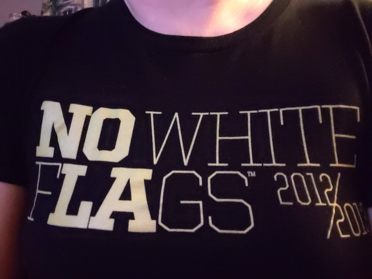 Wearing my @SteveGleason #NoWhiteFlags tshirt today! We miss NOLA so much and can't wait to get back!!
