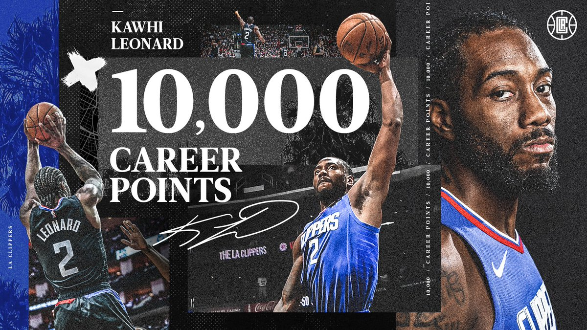 10,000 career points for @kawhileonard. 👏 https://t.co/voH6KxSEqw