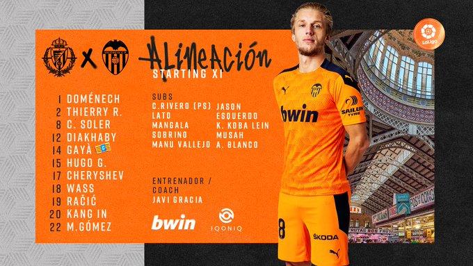 ErZFMvNXIAAw3_p?format=jpg&name=small Alineaciones oficiales del Valladolid-Valencia - Comunio-Biwenger