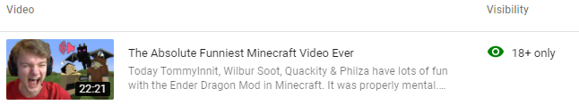 i legally can't watch my own video
