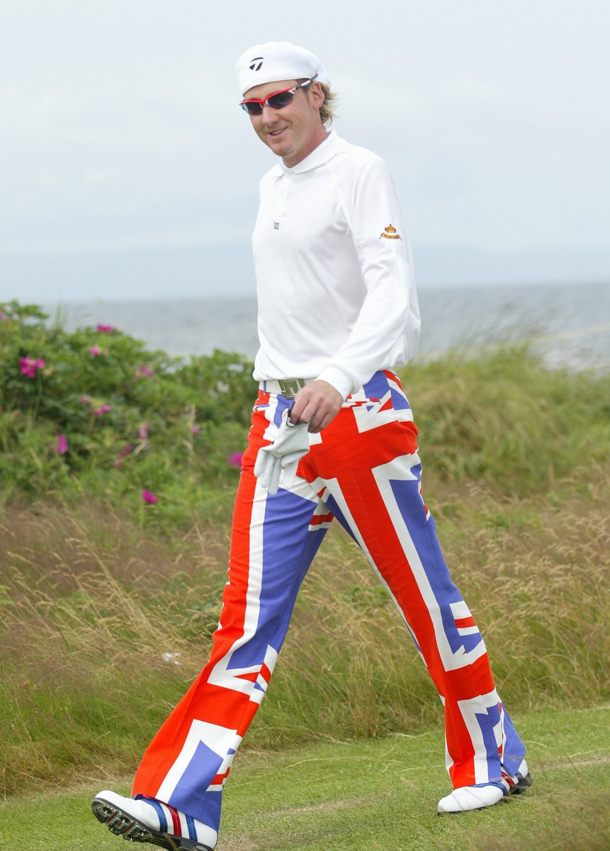 Which outfit is your favourite of @IanJamesPoulter at The Open? 👖 Vote using the poll below 👇