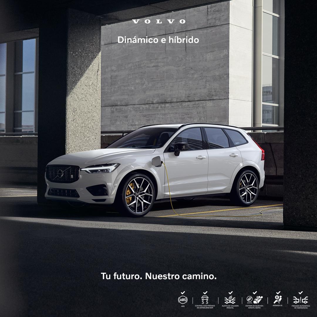 ¿Buscas un carro dinámico que sea a la vez sostenible? Conoce nuestro Volvo XC60 T8 híbrido enchufable, con una potencia total de 407 HP y un tiempo de carga de 5-7 horas. #TufuturoNuestrocamino
