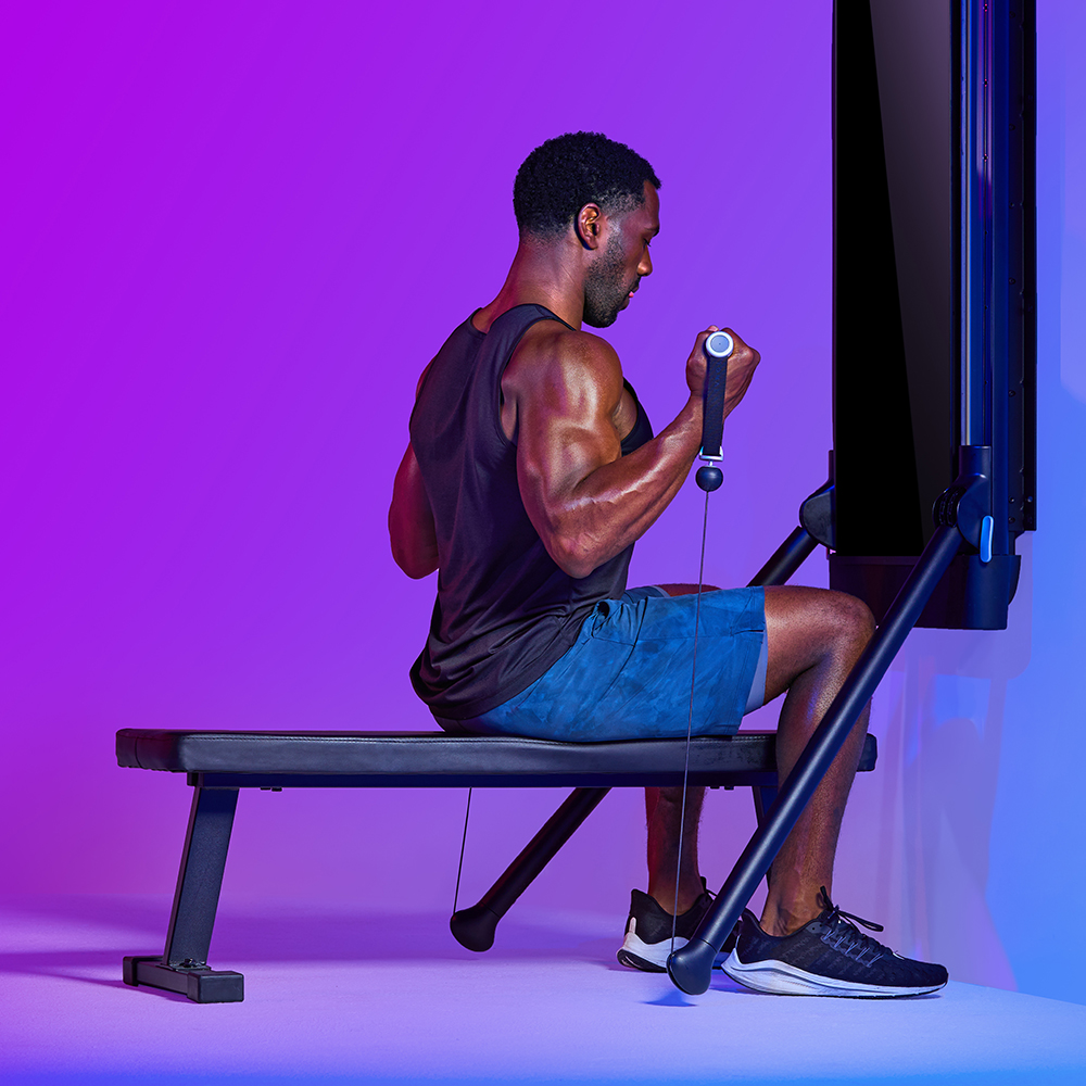 """Ready to test your mind's resilience through adversity? Coach Paul's """"Pump It Up"""" is an intense upper body workout targeting chest, delts, back, and biceps. You'll move between pulling and pushing and eventually burning out your muscles."""