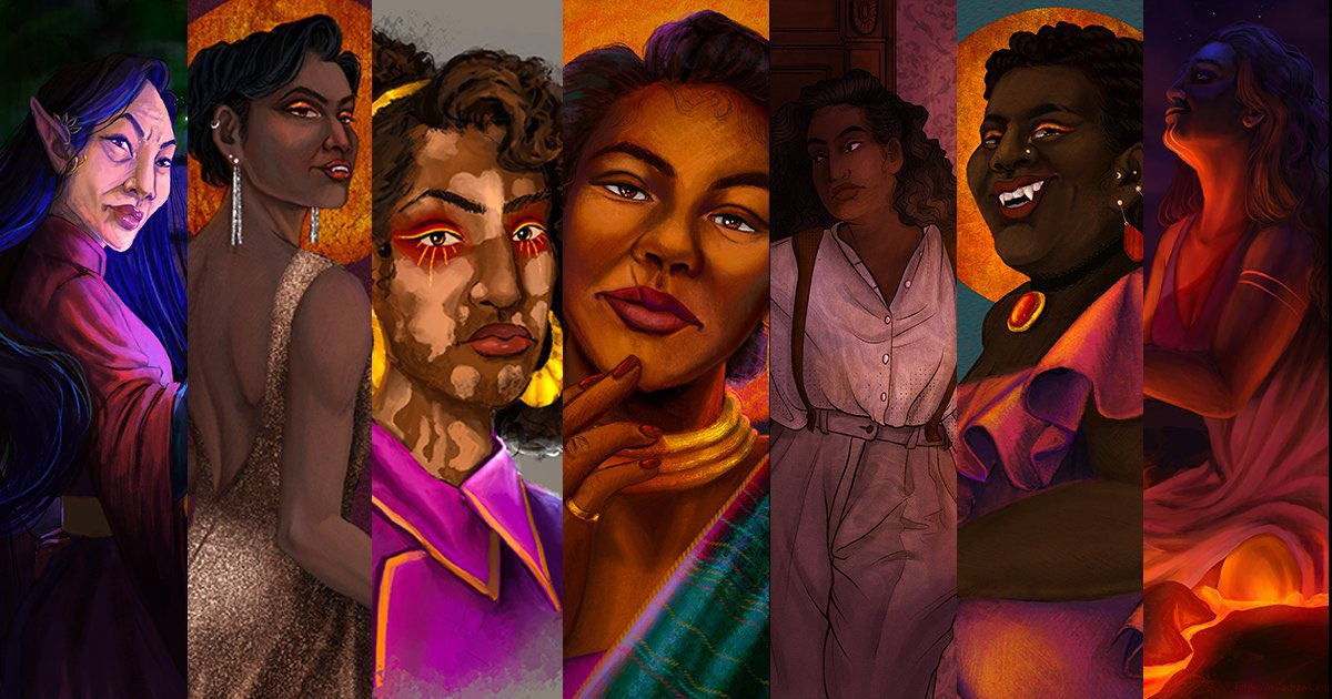 hey y'all, my name is Jae, and #IAmNonbinary 😤🖤💜🤍💛 I hope to show through the diversity in my work that ANYONE can be a hero. I specialize in #ttrpg fantasy /concept art & costume/character design.  My portfolio can be found at  💖#VisibleNonbinary