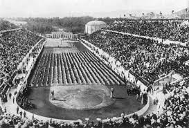 The first modern Olympic Games were held in 1896 in Athens, Greece  Elements of these games included  -The games were opened by the King of Greece -14 total countries (just 3 from outside of Europe) -Only 9 sports (8 individual only-sports) -Just 241 total athletes (all men)