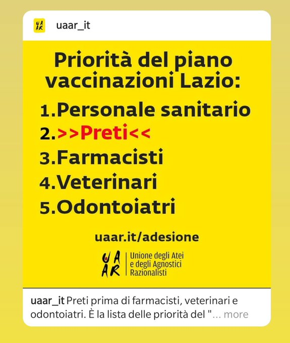 Perché i preti vengono prima dei dentisti. #Bergoglio https://t.co/dpPrO4ep0L