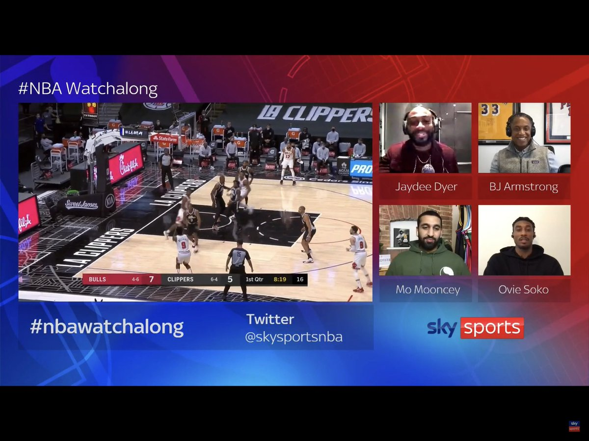 #nbawatchalong  My guys spitting facts #goats   Get the game on the big screen and the chat on the iPad!  @TheHoopGenius @J_Dyer_Official @OvieSoko @bjarmstrong