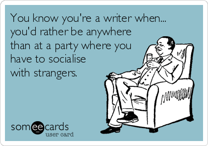 """ESPECIALLY when someone says (#TrueStory) """"Don't tell her anything, she's a #writer! She might use it in a #story!!!"""" 🙄  It really doesn't help my natural anti-social tendencies... 😄  #amwriting #writing #Writers #writersofinstagram #WritingLife #writerlife #WritingCommunity https://t.co/xatUEJHS88"""
